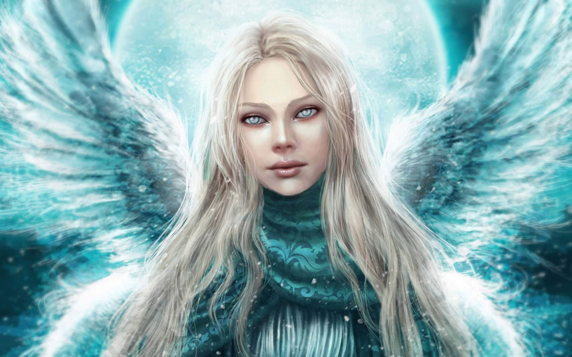 fantasy background wallpaper wallpapers woman winter 1920x1200
