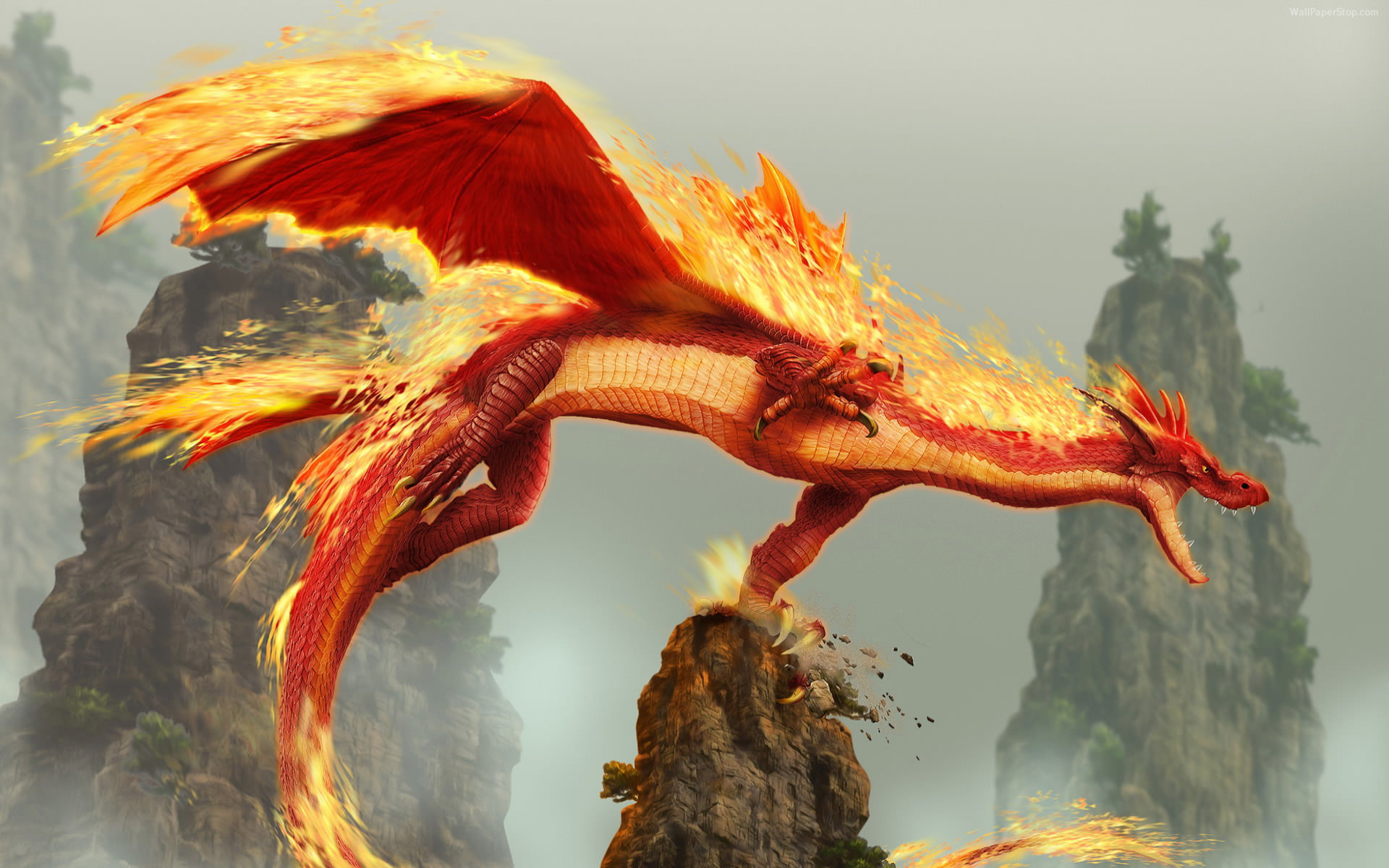 Red Fire Dragon: Red Fire Dragon Wallpaper