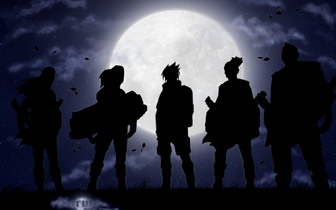 Naruto Outlined Wallpaper