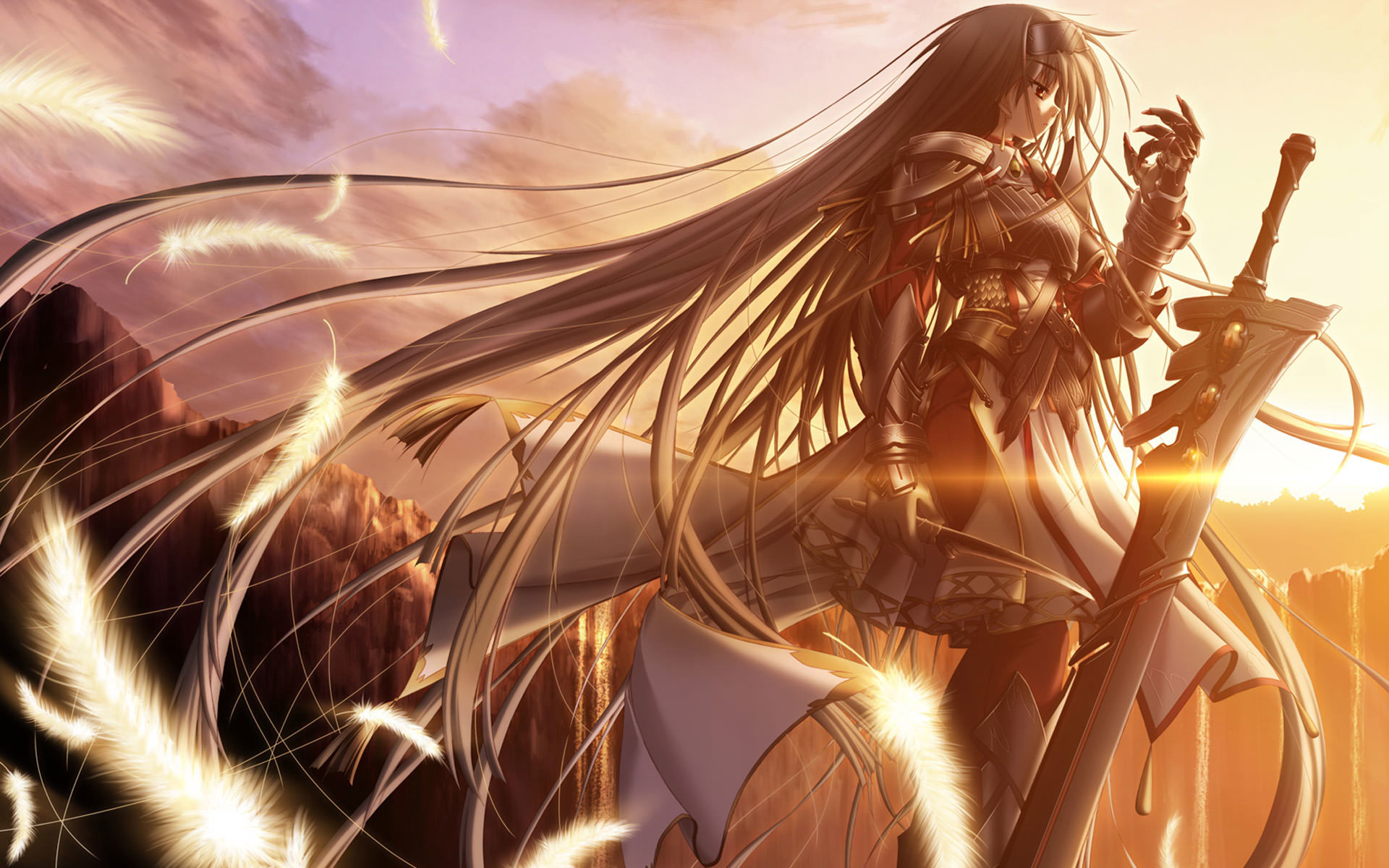 Anime Girl Warrior Wallpaper Hd