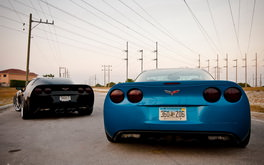 Blue And Black Corvettes