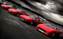 Red Ferraris Wallpaper