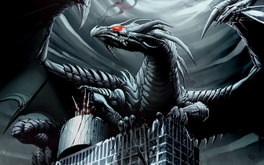 Black Dragon On Skyscraper