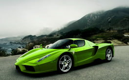 Green Ferrari Wallpaper