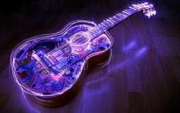 Guitar Purple Light
