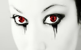 Black And White Red Eyes