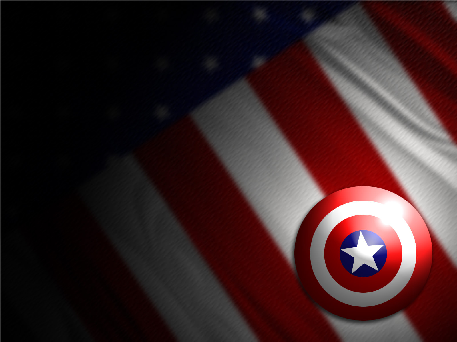 Captain America Symbol Wallpaper 1600x1200.