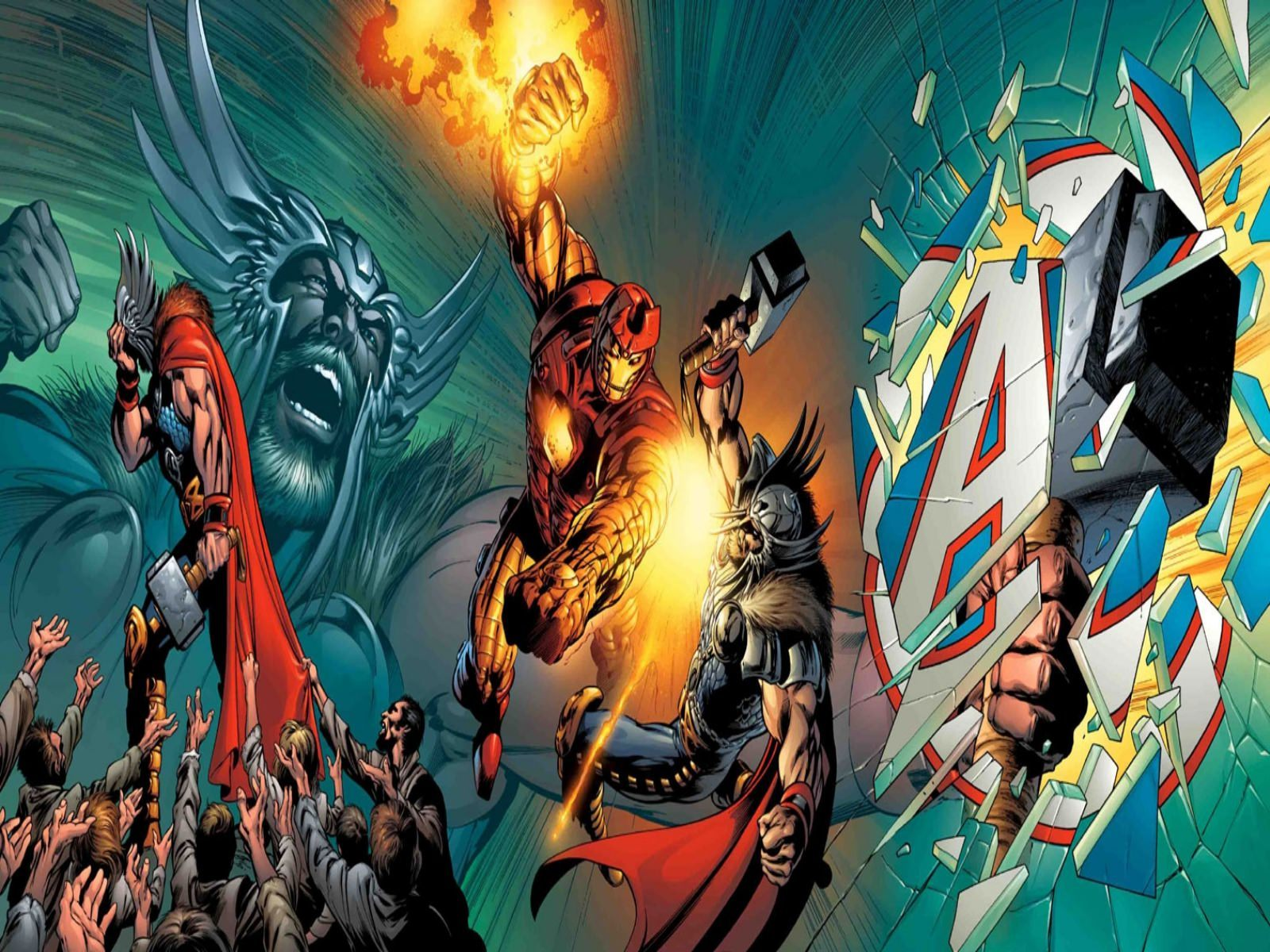 Iron Man Vs Thor Wallpaper 1600x1200.