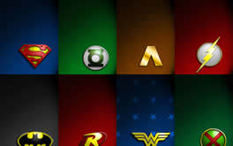 Jla Symbol Collage Wallpaper