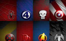 Marvel Symbol Collage Wallpaper