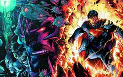 Superman In Flames