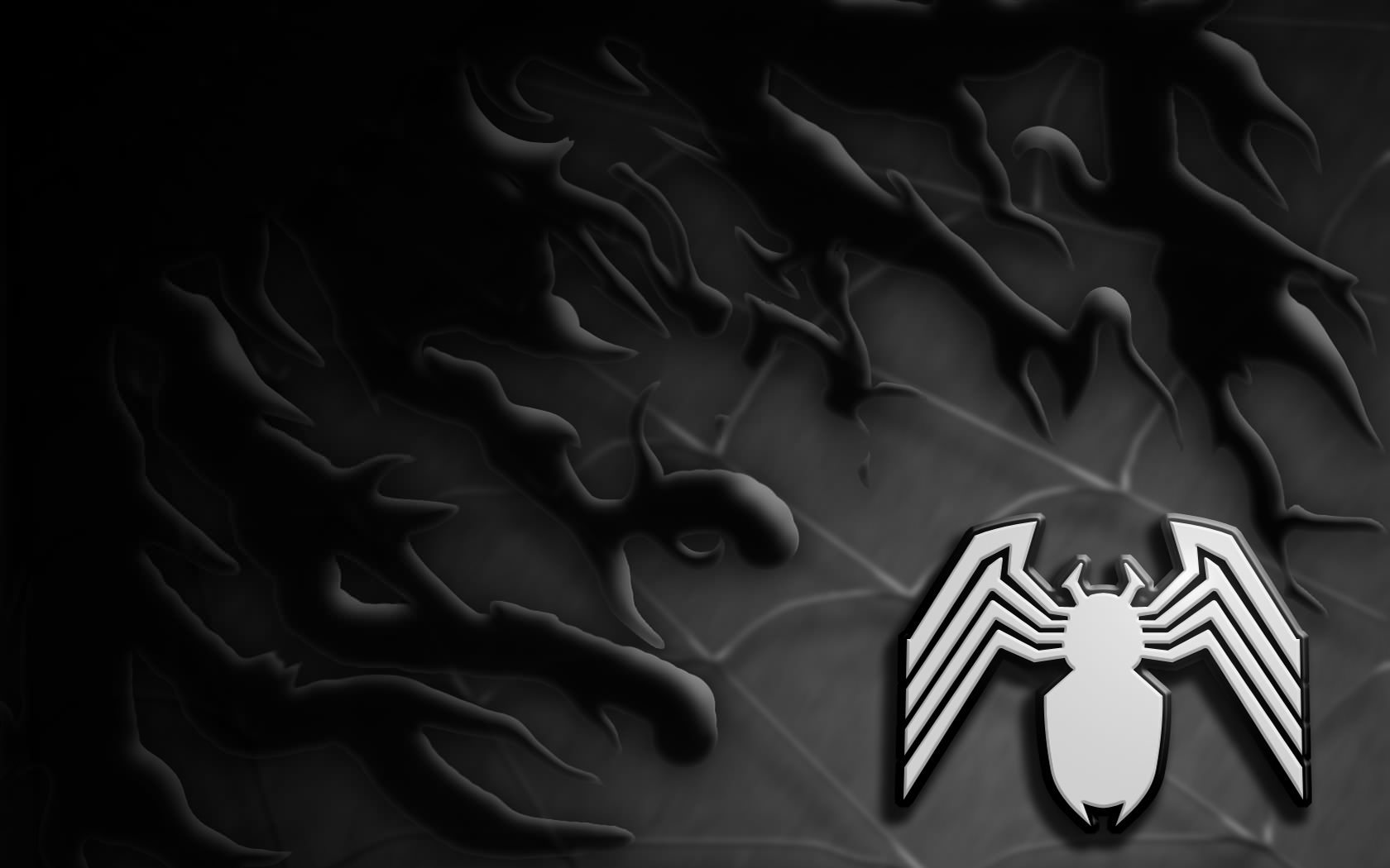 venom symbol wallpaper 1680x1050