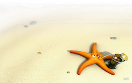 Funny Starfish Wallpaper