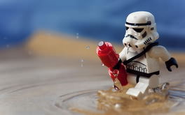 Stormtrooper Gets Wet