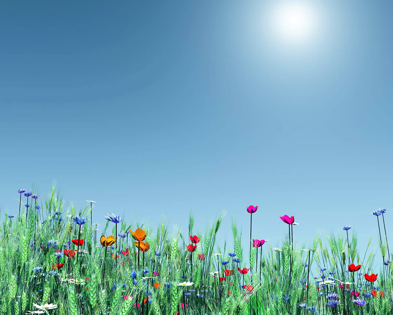 Spring Flowers Wallpaper 1280x1024