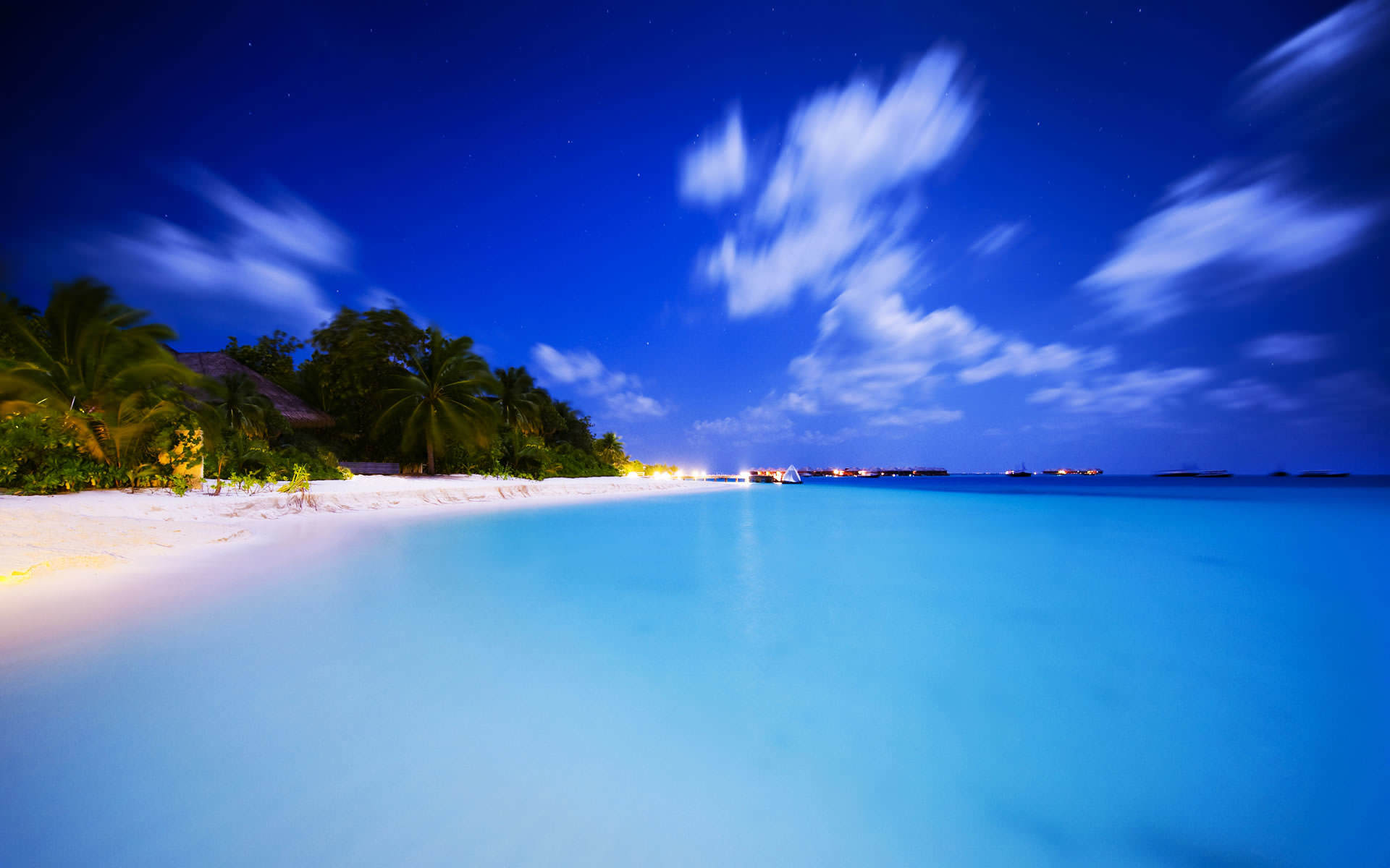 Tropical Summer Beach Background 1920x1200