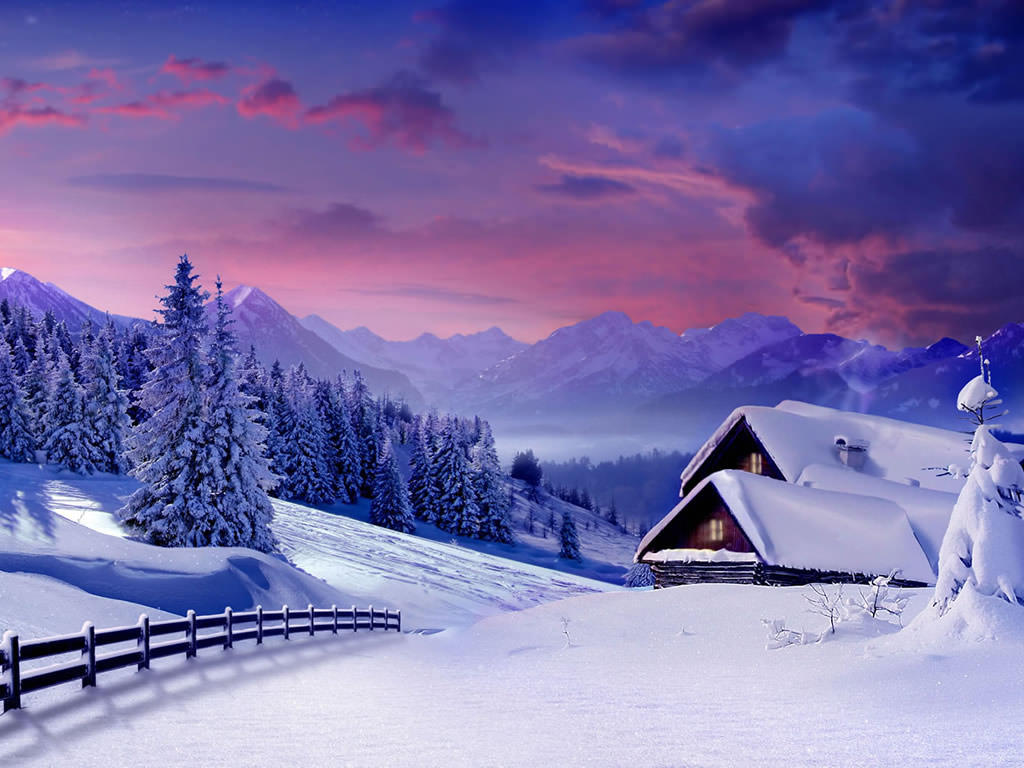 Winter Wallpaper And 1024 X 768 winter season winter fantasy set winter brushes winter holidays winter
