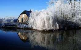 Farmhouse During Winter