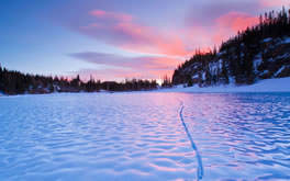Frozen Lake Background