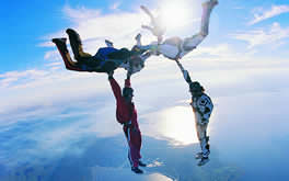 Amazing Sky Diving Wallpaper