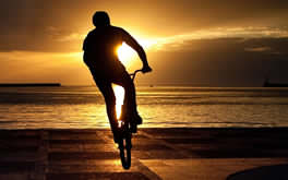 Biking At Sunset