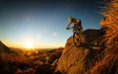Superb Mountain Biker