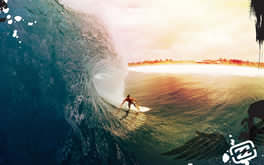 Wave Surfing Wallpaper