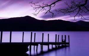Calm Purple Sunset