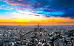 Paris Sunset Wallpaper